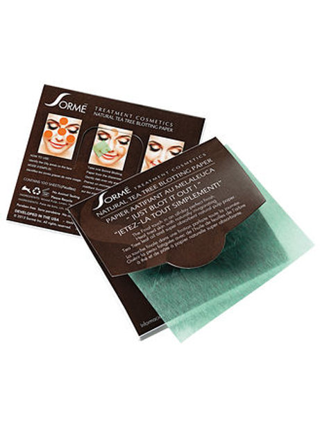 Sorme Natural Tea Tree Blotting Paper (100 per pk)
