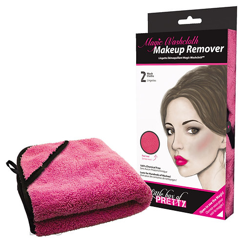 Magic Washcloth Makeup Remover (Pink, 2pk)