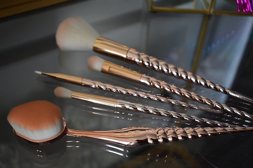 Rose Gold + Blush Brush Set