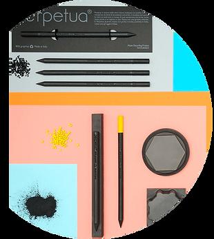 Perpetua la matita realizzata con polvere di grafite recuperata dalla lavorazione industriale degli