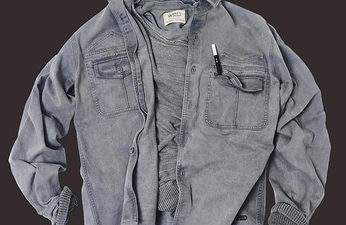 g_jacket endorsed by perpetua. Tinta con polvere di grafite riciclata