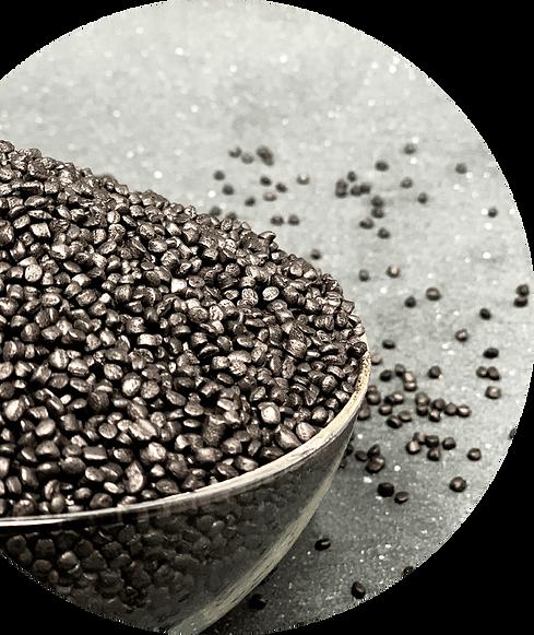 Zantech, patented by Alisea. 80% polvere di grafite riciclata. Resiste agli urti e non sporca le mani