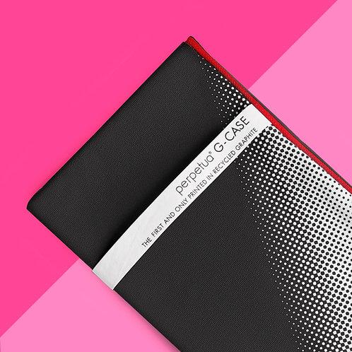 Perpetua g_case - 100% cotone - stampato con polvere di grafite riciclata - grafica mezza punta