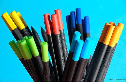 Perpetua la matita è realizzata con polvere di grafite riciclata