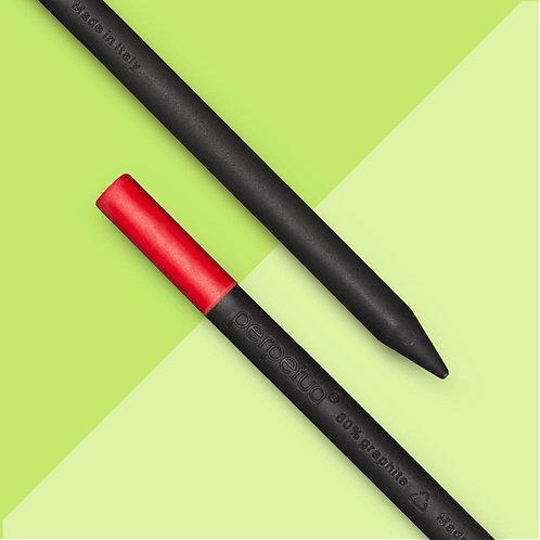 Perpetua la matita ecosostenibile in grafite riciclata - gomma rossa