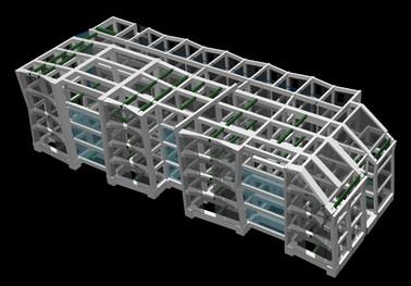 建設地:東京都 用 途:中学校・高等学校 構 造:鉄筋コンクリート造、免震構造