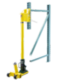Damaged Pallet Rack Repair Hydraulic Jack