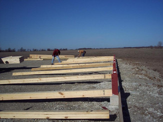 Framing on Ground   Post Frame Building   CPS   Hunnewell, Missouri