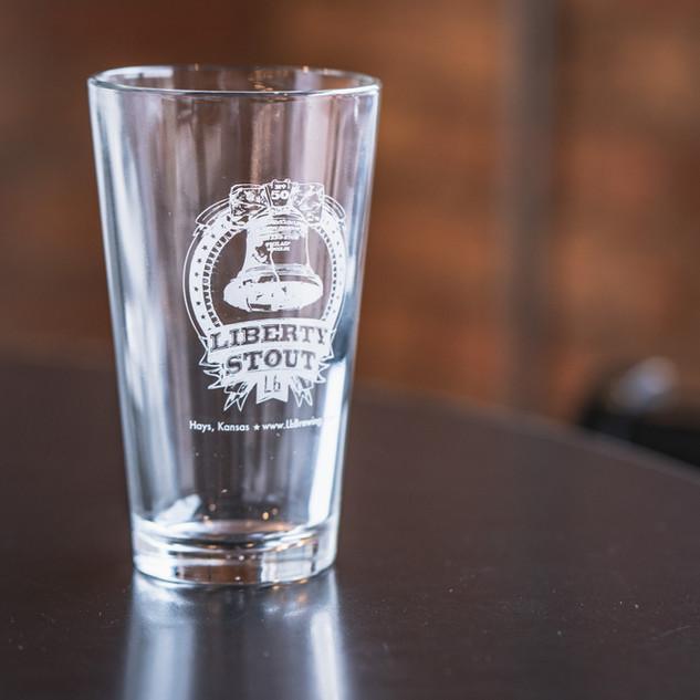 Liberty Stout Pint Glass
