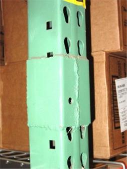 Mac Rak | Bad Repair | Damaged Pallet Rack System