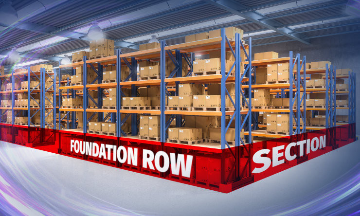 Foundation Fow Section of Pallet Rack
