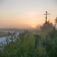 Morning Mist on Farm near Moberly MO