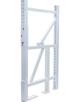 Pallet rack repair kit with vertical legs