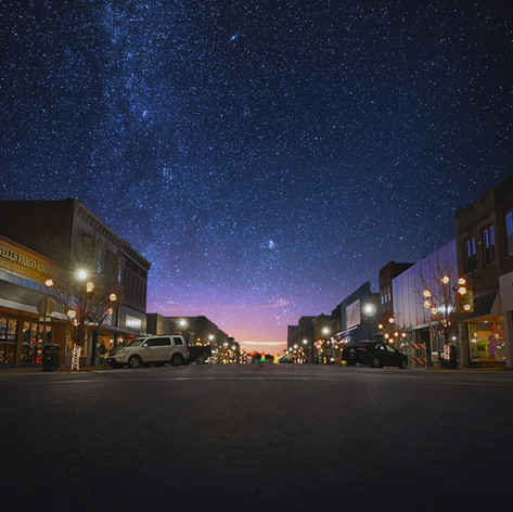 Downtown Moberly Missouri at Night