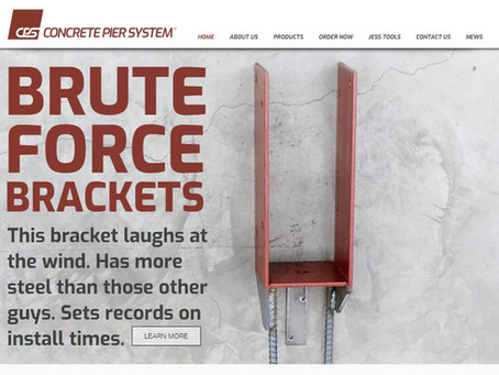 Concrete Pier System Launches New Products and Website