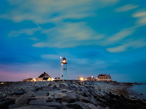 Nighttime at Scituate Light