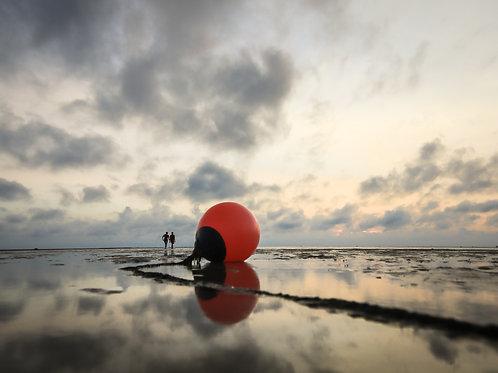 Mooring at low tide