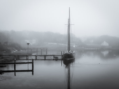 Schooner in the Mist