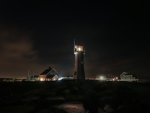 Nightfall on Scituate Lighthouse