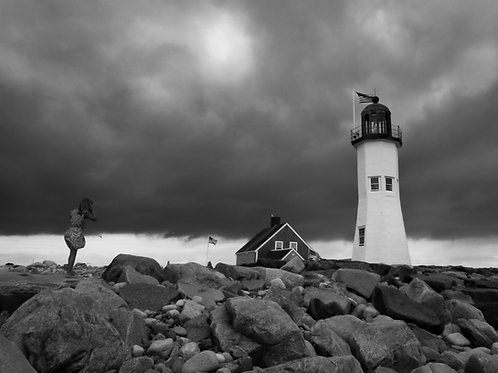 Storm over Scituate Light