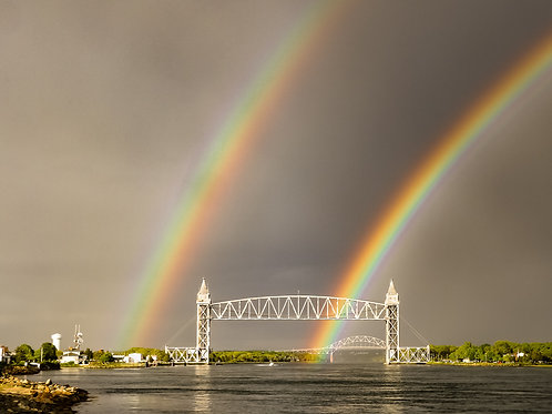 Double Rainbow over the Cape Cod Canal Railroad Bridge