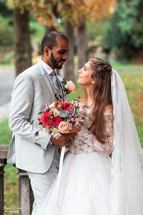 shooting couple-mariage-voile-bouquetdefleurs