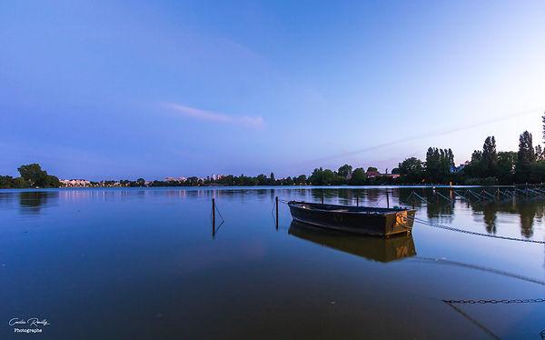 Enghien les Bains - Val d'Oise- lac- heure bleue - paysages - bateau