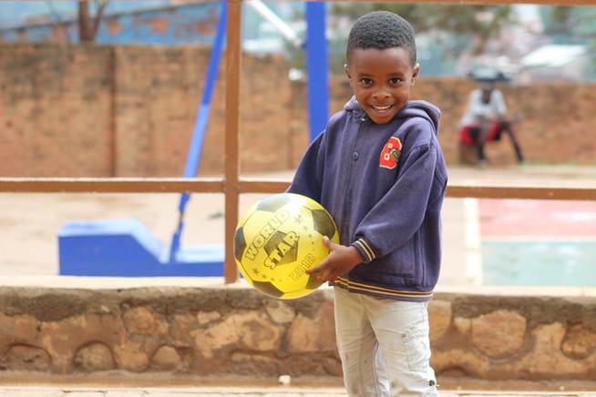 """with our empowering principle guidance, we believe that  children should do physical activities to be mentally and emotionally regulated. children with sensory processing disorders are given a sensory rich environment. At Gisimba we believe in """"Healthy Body Healthy Mind."""" For this reason, we offer spaces where children can playfully do physical exercises."""