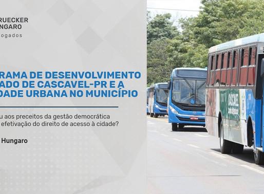 O Programa de Desenvolvimento Integrado de Cascavel-PR e a mobilidade urbana no Município
