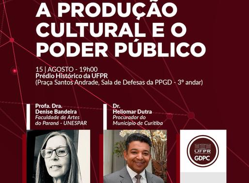 Lançamento GDPC – A Produção Cultural e o Poder Público