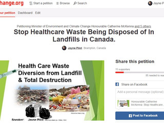 Petition for Healthcare Waste Diversion from Landfill