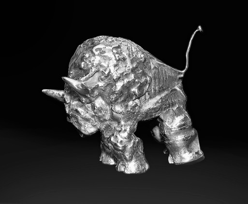 Small Stainless Steel Buffalo  View#1