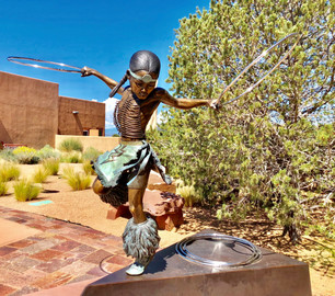 """""""Lightning Boy"""" sculpture at the Museum of Indian Arts and Culture, Santa Fe, NM"""