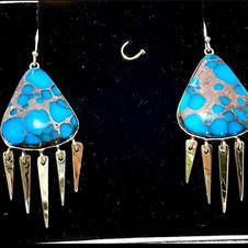 Egyptian Turquoise Earrings
