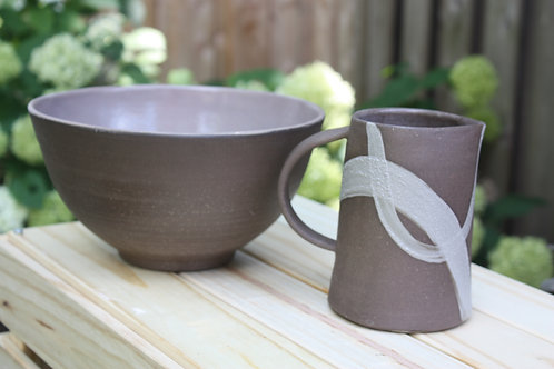 grey swirl pitcher