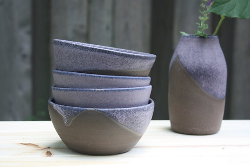 the purples are blue bowl set