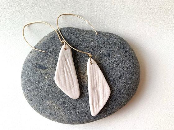 textured porcelain earring