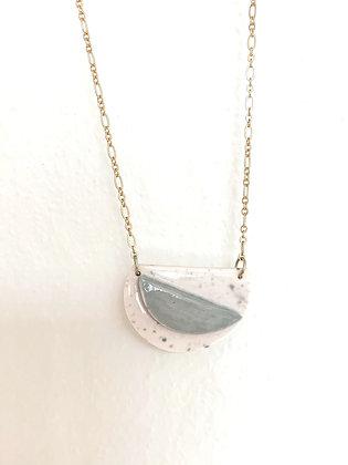 grey moon pendant necklace