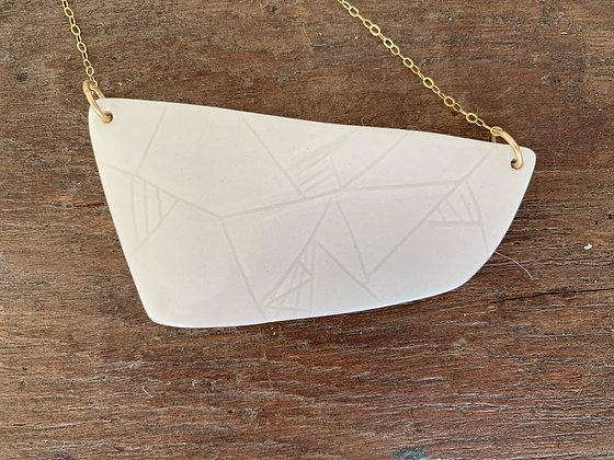 large geometric pendant necklace