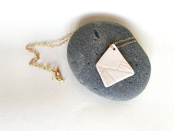 small geometric pendant necklace