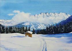alpenpanorama-aquarell