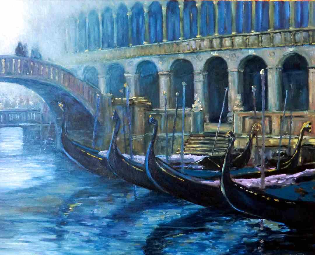 gondeln im Kanal-stimmungsvolle_venedig_