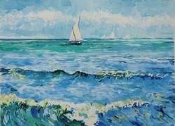 seestueck-mit-segelbooten-aquarell-nach-