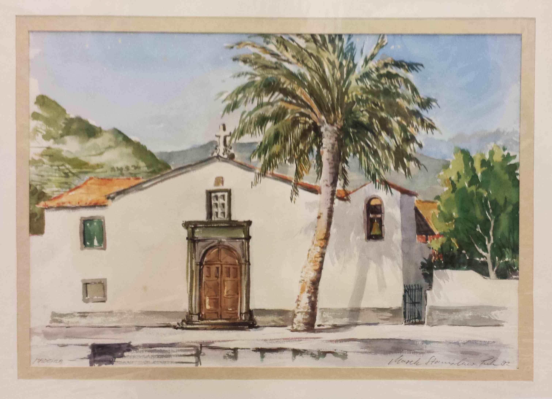 Kleine Kirche im Osten Madeiras - aquare