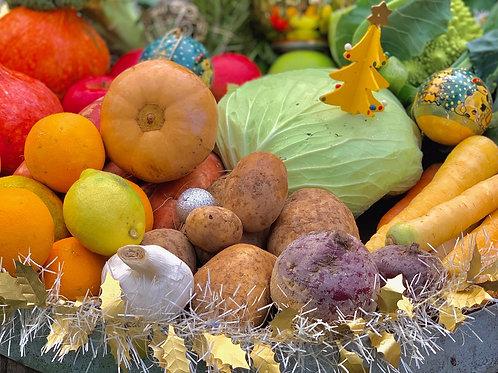 Panier Fruits, Légumes et Herbes de saison