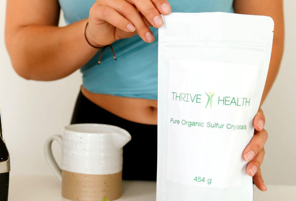 Thrive Health Pure Organic Sulfur Crystals