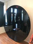 black round wall