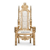 Ivory Gold King chair