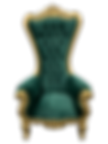 green gold throne chair