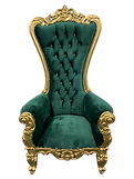 green gold throne chair